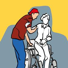 behinderten Menschen helfen